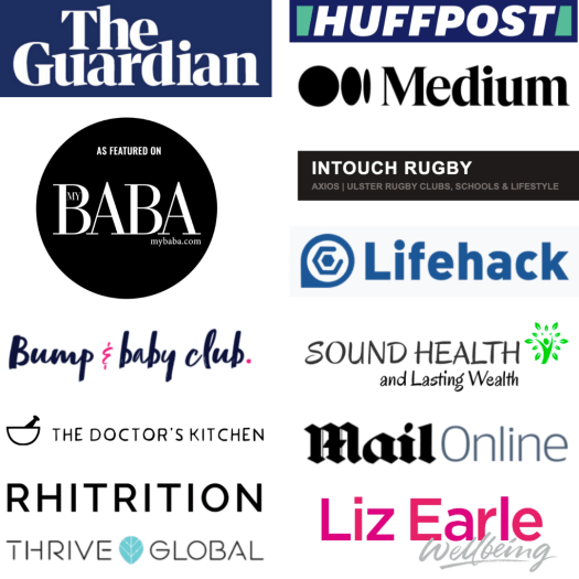 healthy eating dr harriet holme featured in the guardian, huffpost, medium, thrive global, life hack, mail online