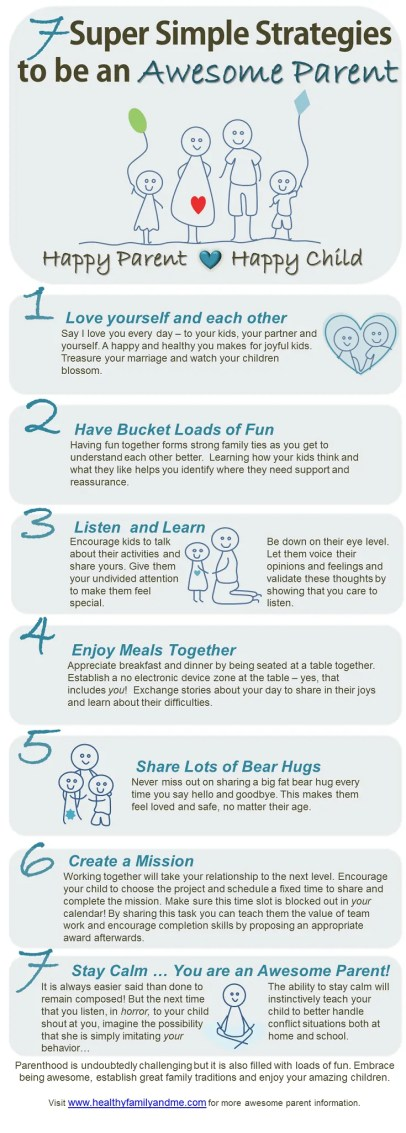 Do you want to be and awesome parent? This is how easy it is! 7 super simple strategies to be an awesome parent. Ready now to up your game!