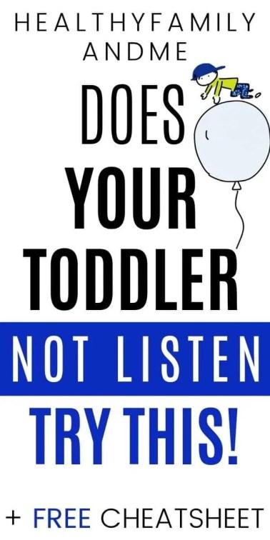 child won't listen