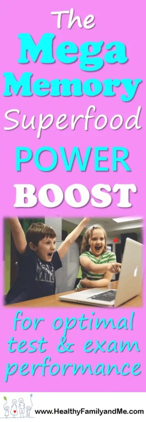 Unsurpassed Superfood Power Series Mega Memory Boost to boost your child's brain power. Free Printables.