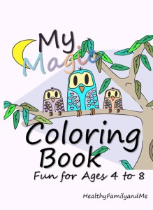 Kids Coloring Book for boys and girls. A beautiful kids coloring book with more than 40 unique images from HealthyFamilyandMe.com