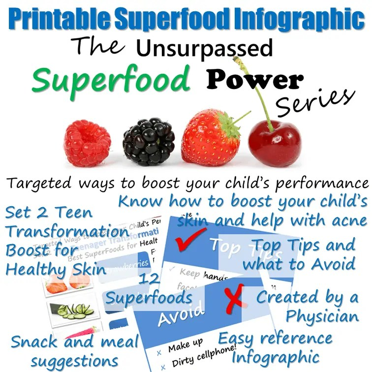 superfoods for health skin for teenagers