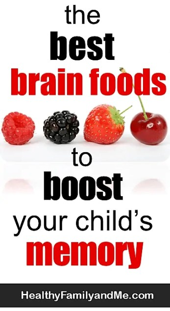 Discover the best brain foods for kids and natural ways to help a child focus. Best superfoods for memory. Learn how food affect children bodies. #superfoods #brainfoods #brainfoodforkids #parenting #healthykids