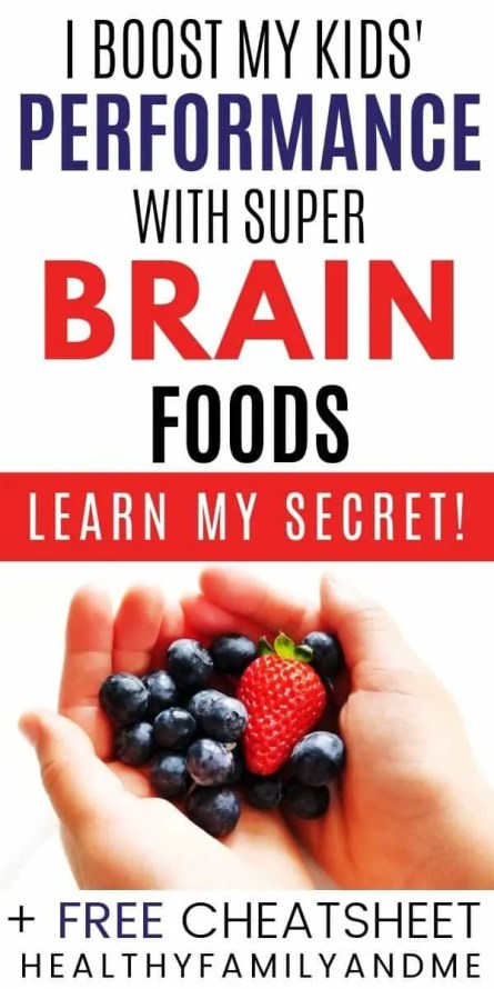 smart kid learning and brain foods for your kids text