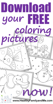 Kids coloring book with free coloring pages. HealthyFamilyandMe.com