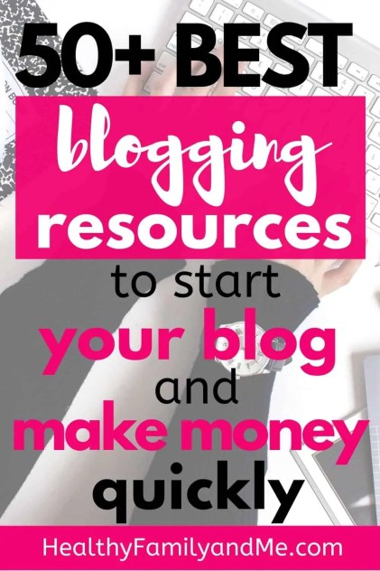 best blogging resources for new bloggers. learn how to start a blog and make money online with the best blogging tips #blogging #bloggingforbeginners #startablog #makemoneyonline