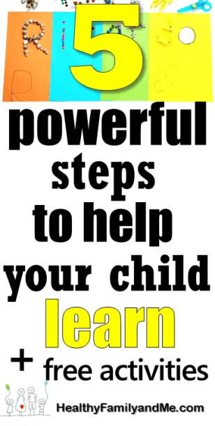 Learning styles for kids. Discover 5 powerful steps to help your child learn. Free printables and activities. #learningstyles #homeschooling #kidslearning #smartkid #brilliantchild