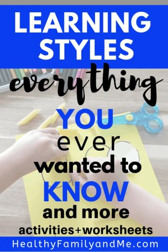Everything you want to know about learning styles and helping your child learn. Grab your free worksheets and guide. #freeprintables #kidslearning #homeschool #education