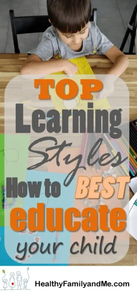 Top Learning Styles for Kids. Discover the steps to successfully educate your child everyday #kidslearning #learningsstyles #cleverchild #smartkids #educatechildren #homeschool #parenting