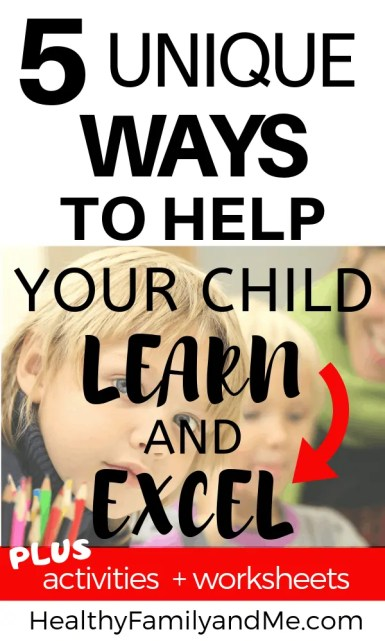 You have to see these clever ways to help your child learn and excel. With free printables #freeprintables #prekworksheets #homeschool #learningstyle