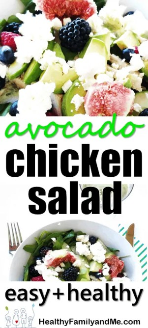 Looking for an easy and healthy avocado and chicken salad. Then grab this recipe now. Clean eating keto chicken salad. #avochickensalad #chickensalad #chickenavo #avocado #summersalad