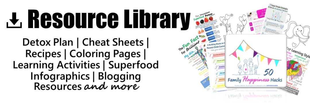 Resource Library from HealthyFamilyandMe.com #parenting #healthyliving #kidslearning
