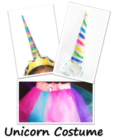 Costume, Unicorn Birthday Party with unicorn costume, birthday invitation, treats, unicorn cake, birthday games and birthday favors. #unicornparty #birthdayparty #birthdayfavors #unicorncake #pinata