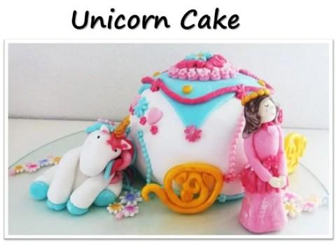 Unicorn cake for Birthday Party with unicorn costume, birthday invitation, treats, unicorn cake, birthday games and birthday favors. #unicornparty #birthdayparty #birthdayfavors #unicorncake #pinata