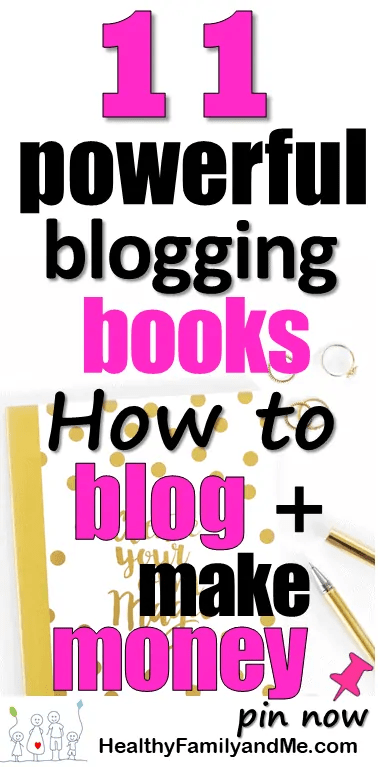 11 Powerful blogging books to help you start a blog and make money. read it now be a better blogger. #bloggingbooks #startablog #newblogger #bloggingforbeginners