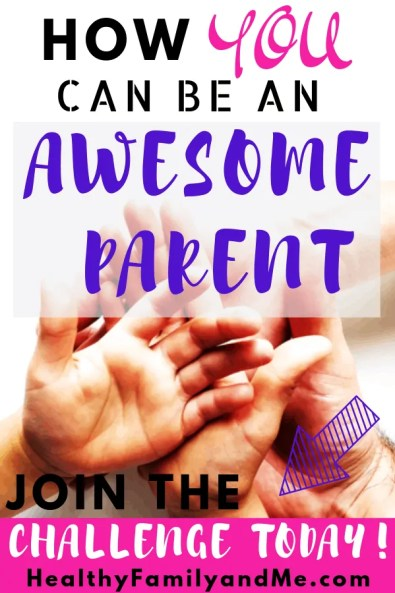 family holding hands, free mom life course how to be an awesome parent, join challenge now