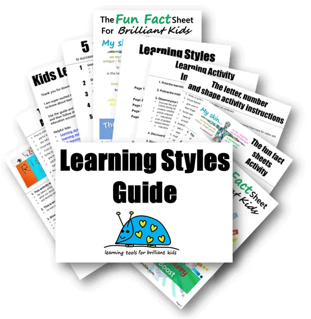 Learning style activities guide for kids with learning style activities and worksheets. #parenting #kidslearning #learningstyles #freeprintables