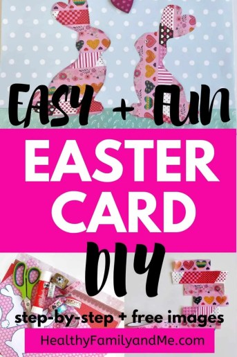 Easter card diy for cute Easter cards handmade with love. Kids love this Easter craft. This fun Easter activity is simple with step-by-step instructions. #easter #eastercard #eastercraft #easterdiy