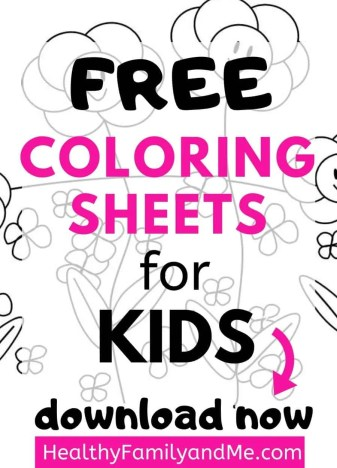 Grab your free coloring sheets for kids for a great kids activity. #coloringsheets #freeprintable #freecoloring #kidscrafts