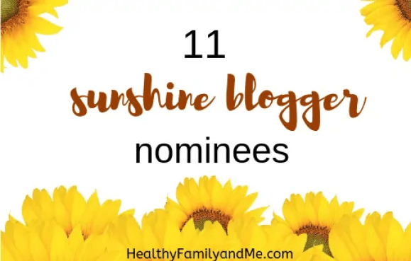 the sunshine blogger award #blogging #bloggingaward