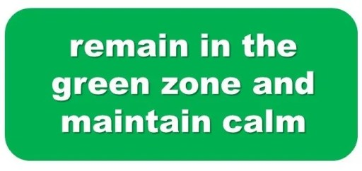 how to calm down green zone calming tool mission