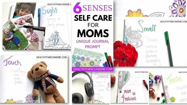 Journal prompt for mom 6 sense self care #journalprompt #momlife #journal #senses #motherhood #selfcare