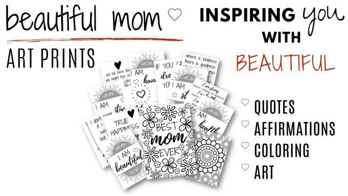 beautiful mom art prints