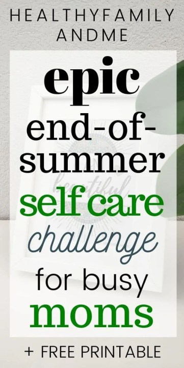 self care challenge moms