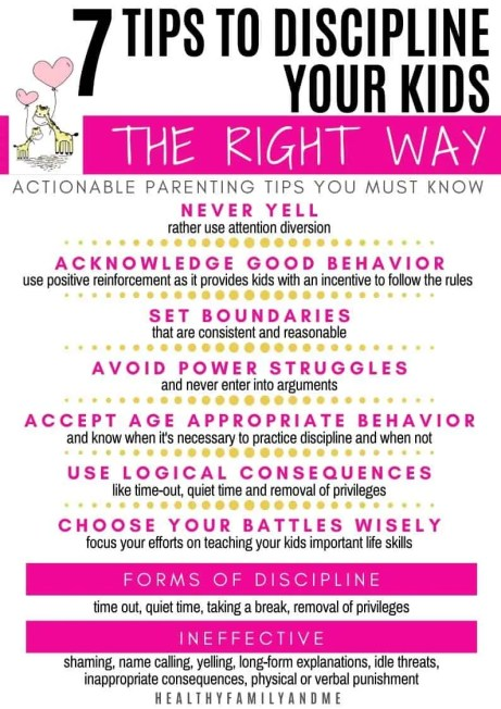 infographic tips to discipline a child