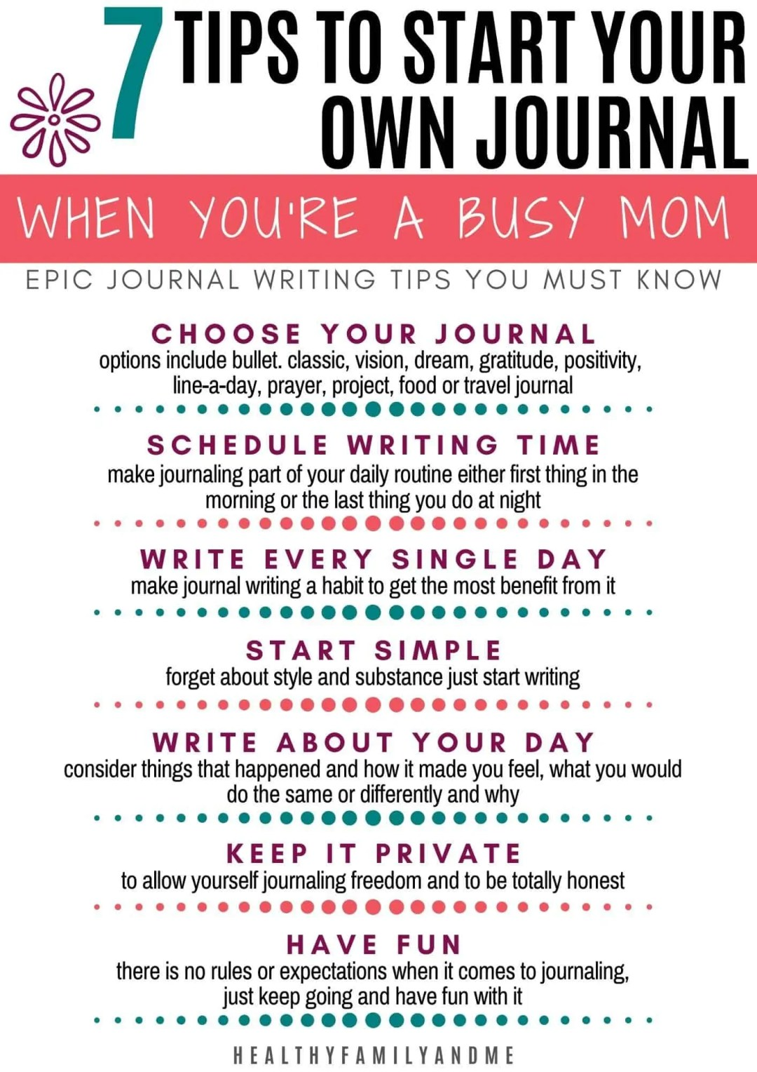 how to journal writing tips