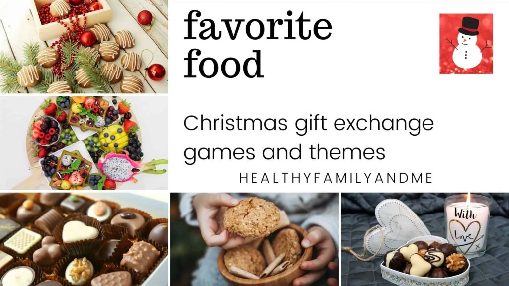 Christmas gift exchange games favorite food