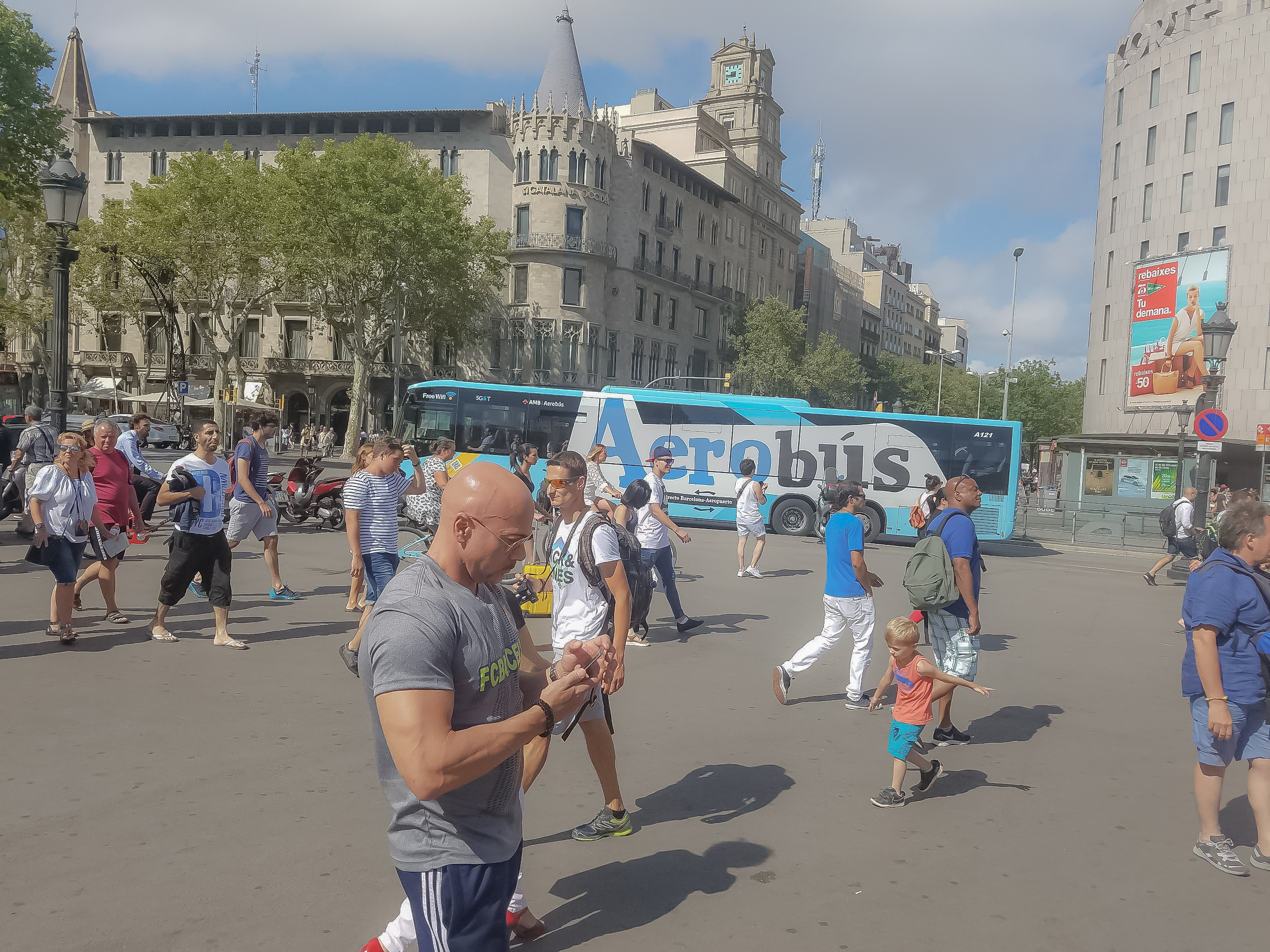 tourist in barcelona