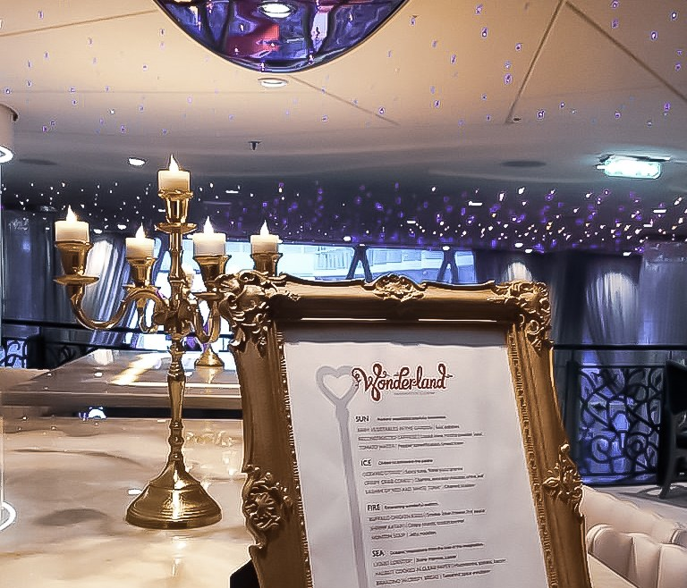 Dinner at Wonderland aboard Harmony of the Seas
