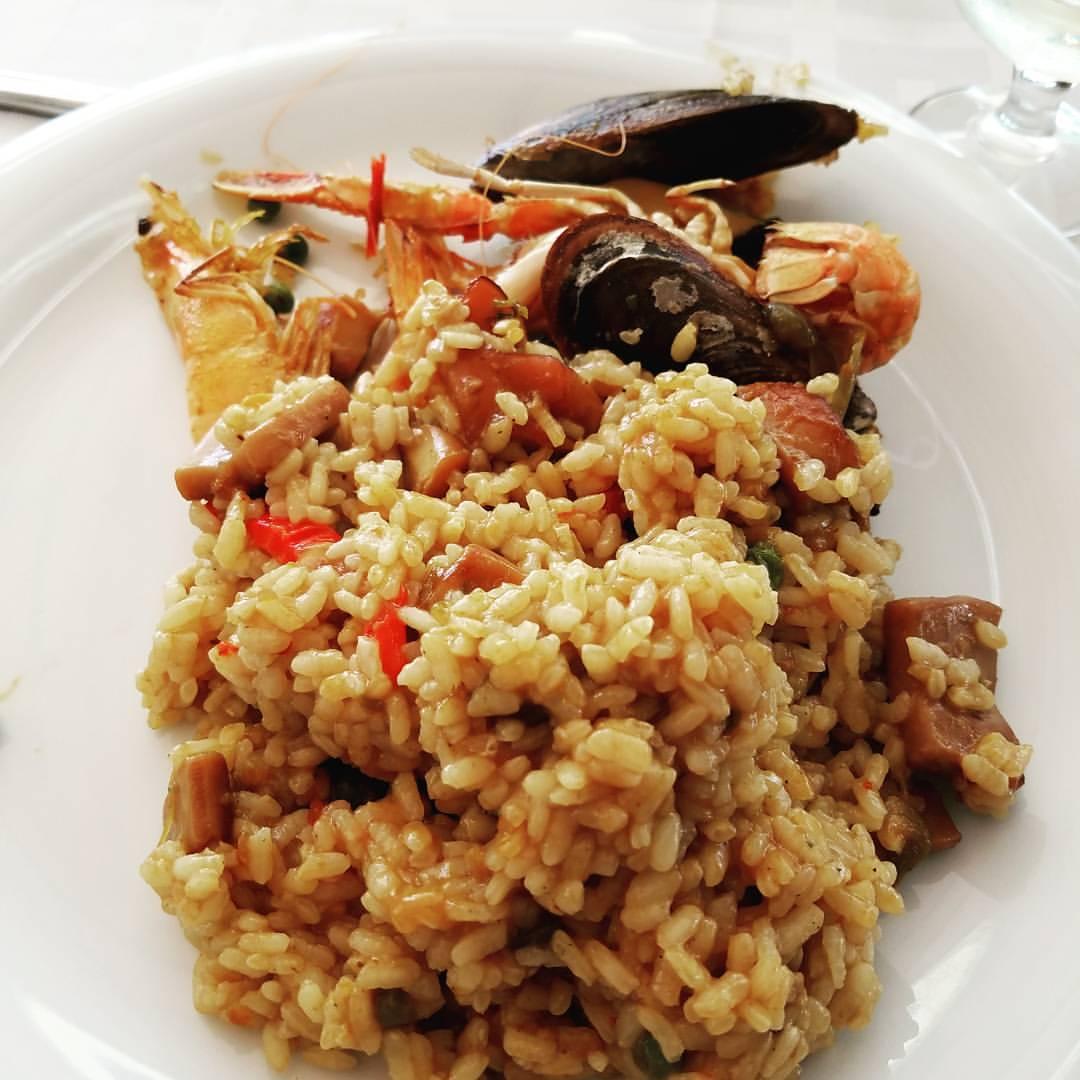 paella de marisco, paella seafood