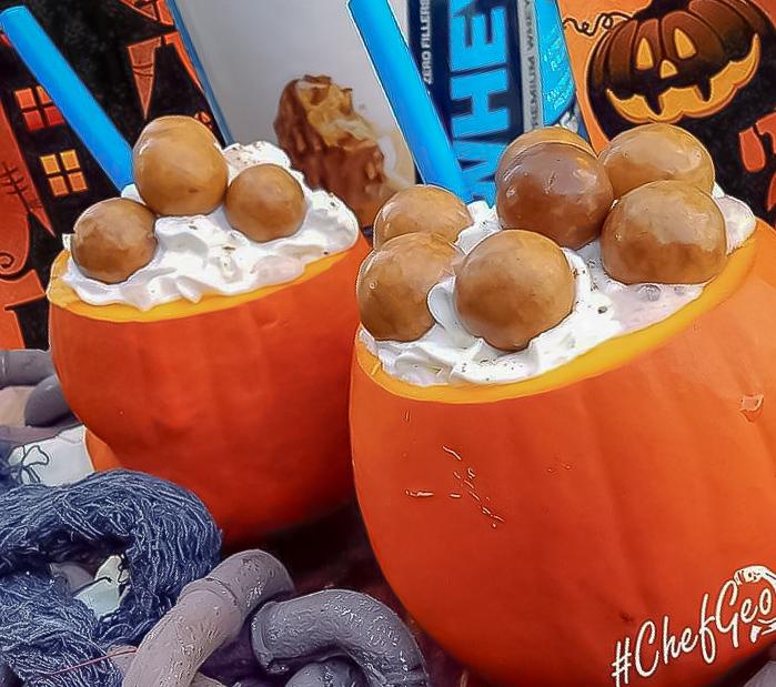 A New Killer Easy Pumpkin Peanut Butter Protein Malt Shake
