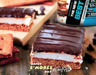 Delicious and Healthy S'mores Protein Cake Bars