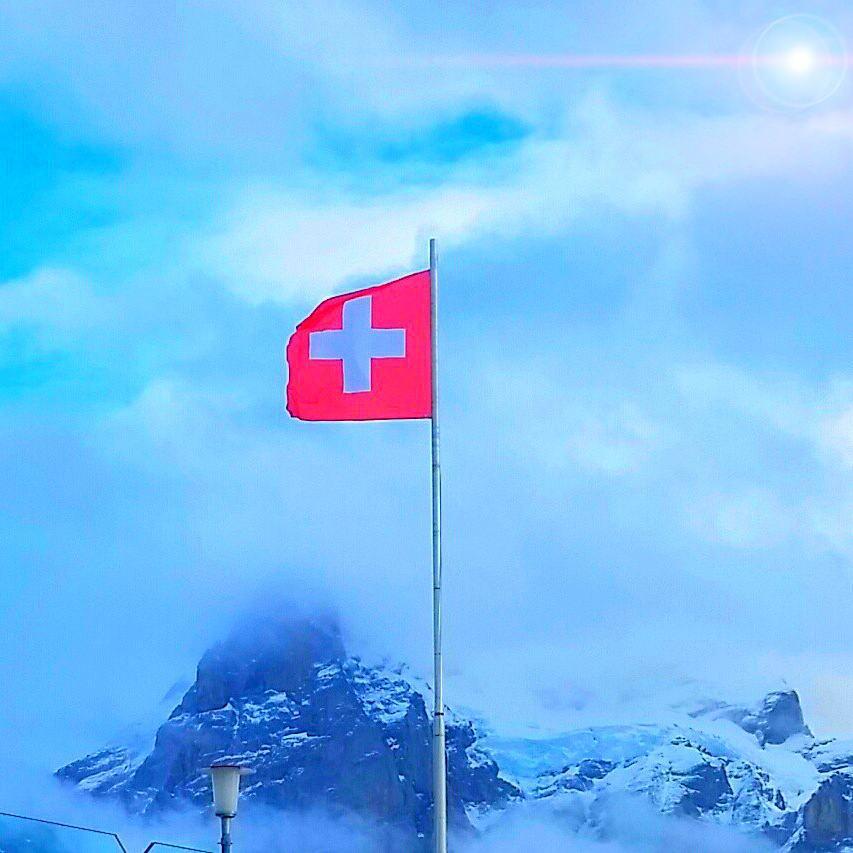 Swiss flag, switzerland vacation