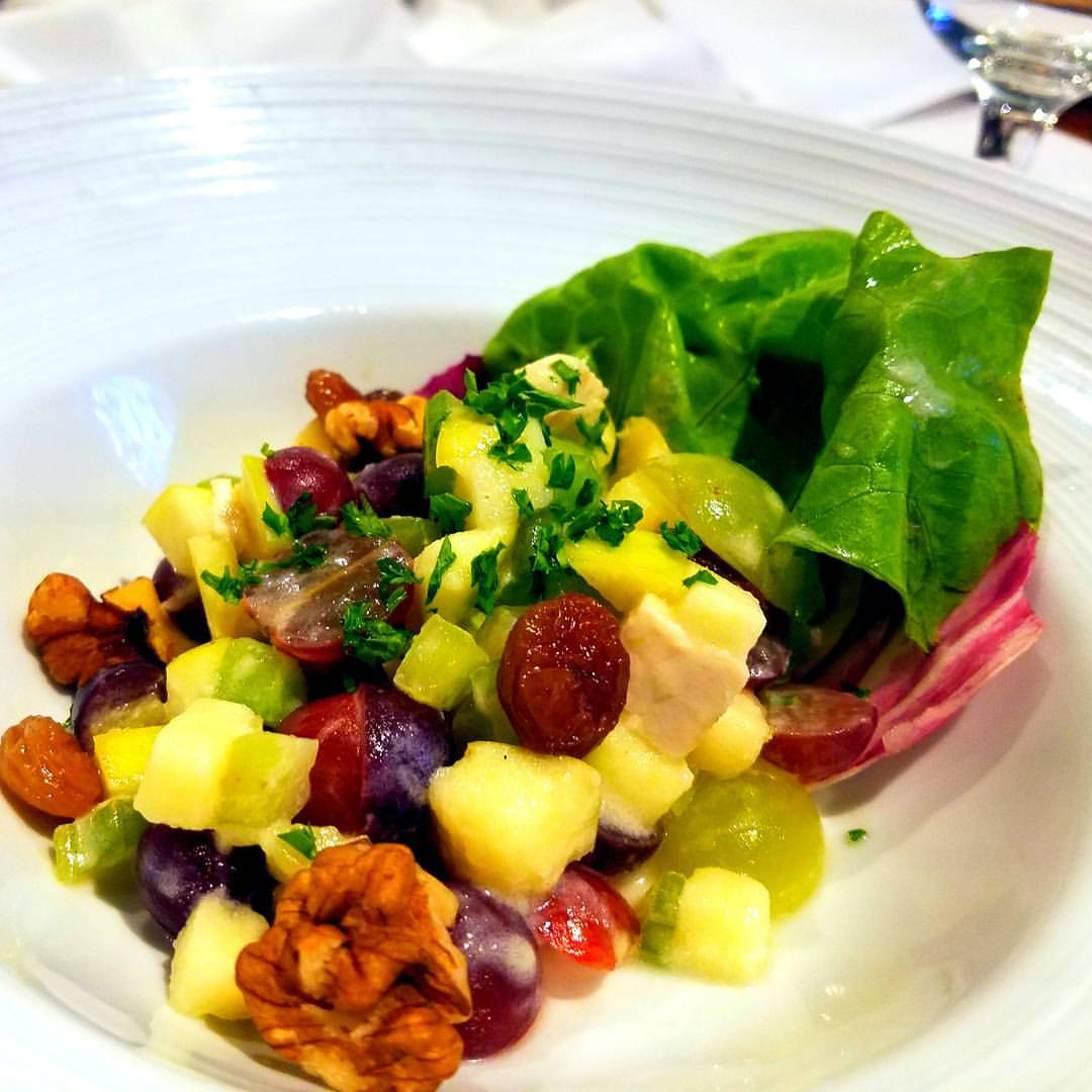 walnut and green salad, dinning on harmony of the seas
