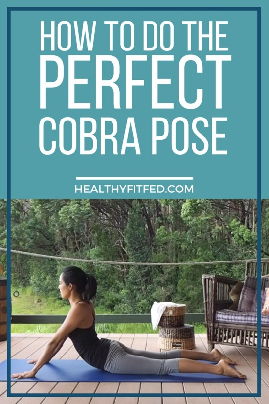 How to do the perfect cobra pose, helps stretch the shoulders and neck, and relieves sciatica pain.