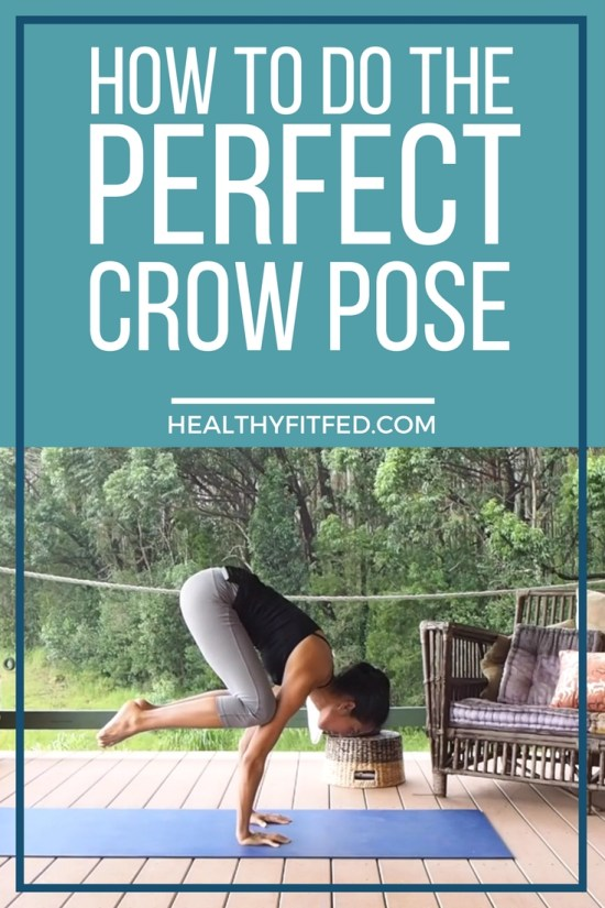 How to do the perfect crow pose. Step by step. Whole body workout.