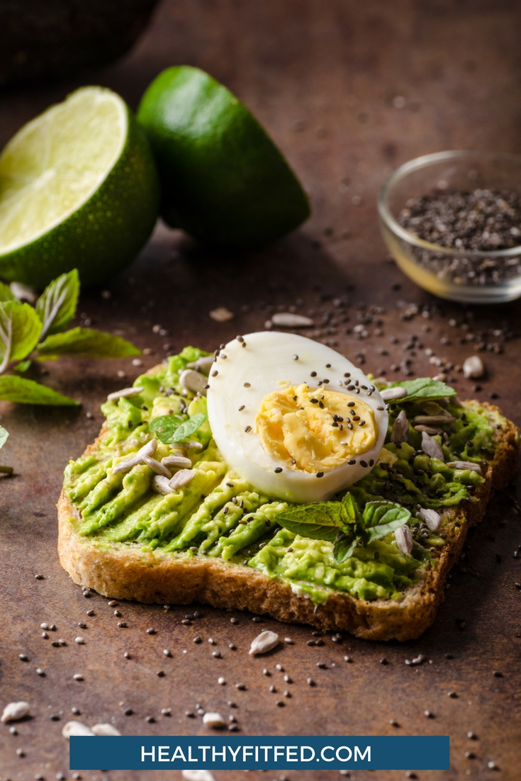 Clean eating breakfast ideas to help you eat delicious healthy meals. Try Avacado and egg whole wheat toast. So yummy.