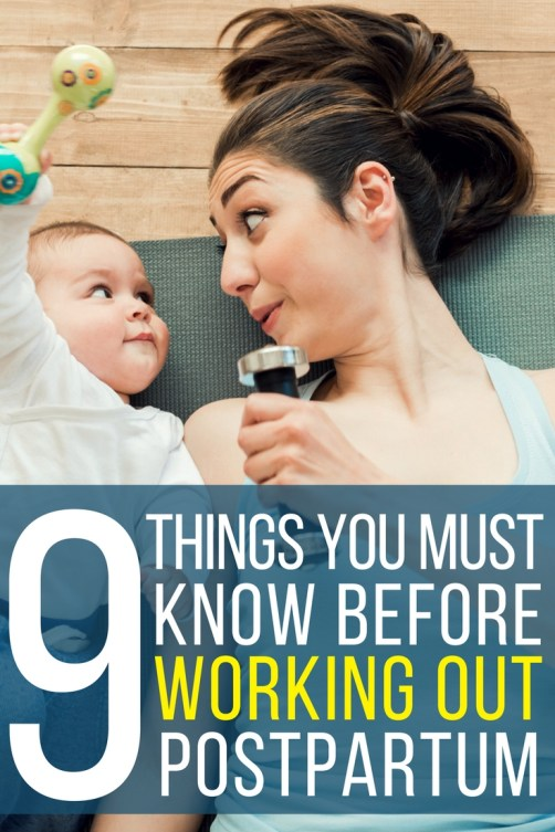 9 Things you must know before starting to workout postpartum!