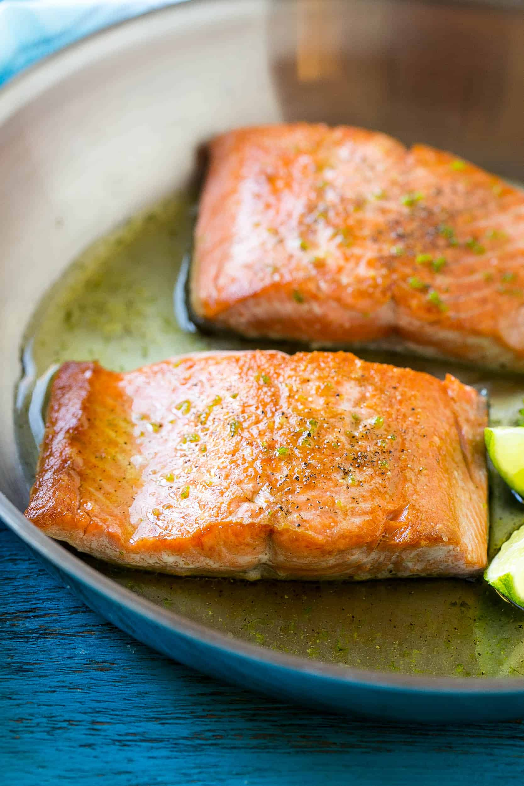 Easy Honey Lime Glazed Salmon Recipe | Healthy Fitness Meals