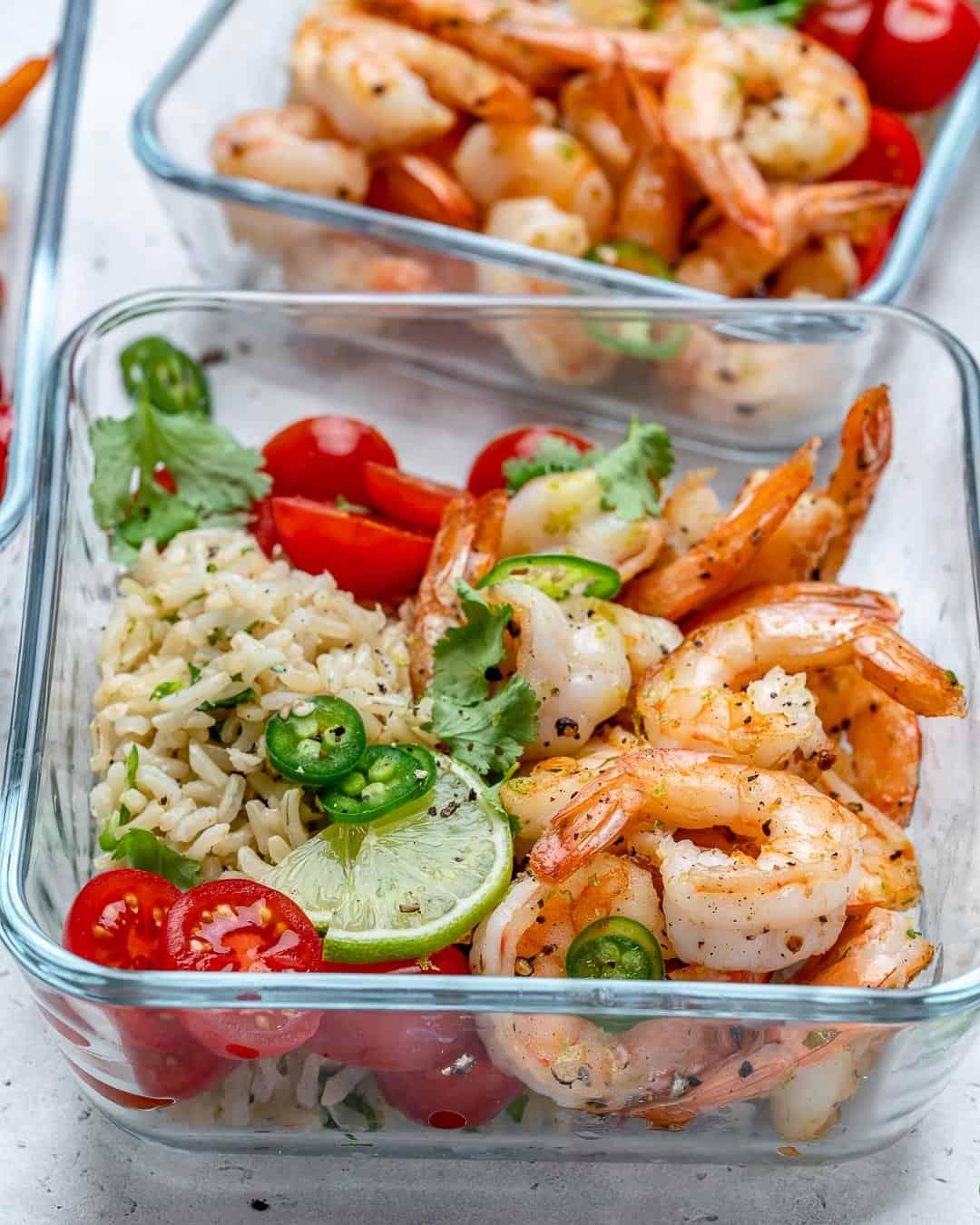 Garlic Lime Shrimp Meal Prep Recipe Healthy Fitness Meals