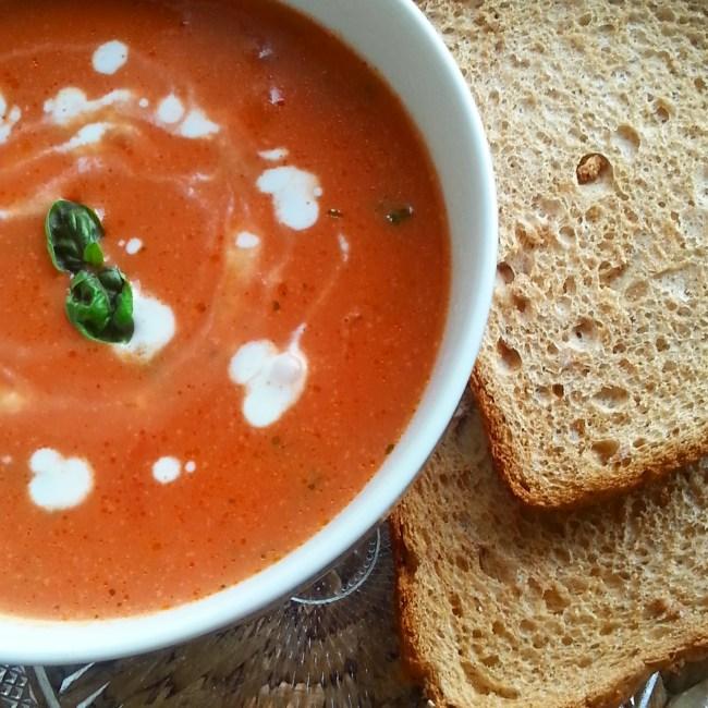 Snelle romige tomatensoep 2