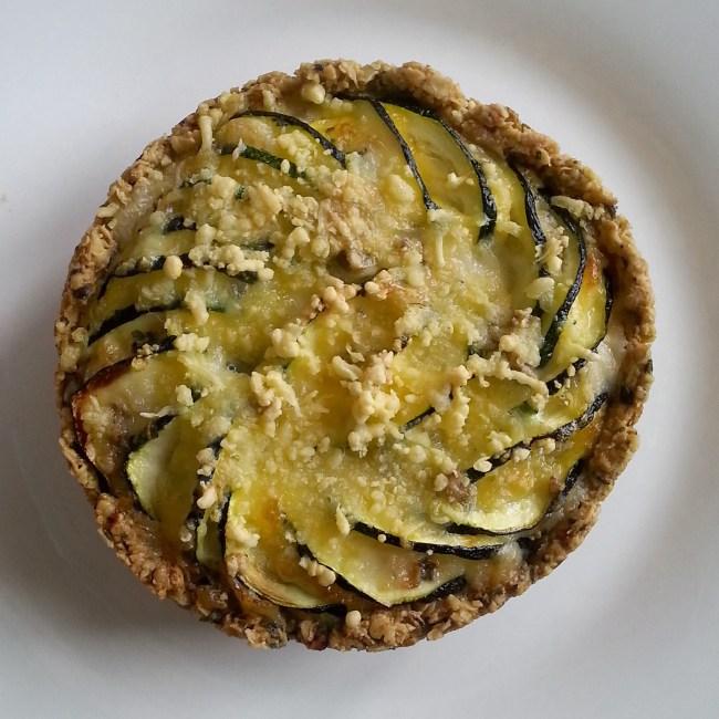 Havermoutquiche met courgette en gorgonzola 3