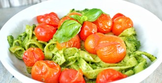 pasta pesto met gepofte cherrytomaatjes 1