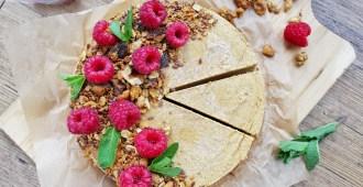 vegan pompoen cheesecake met vezelrijke granola 1