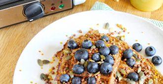 Glutenvrije wafels met blauwe bessen + Princess wafelijzer WIN ACTIE!