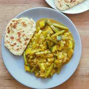 groene groenten curry van Debbie